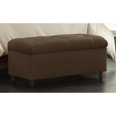 Nelson Tufted Upholstered  Microdenier Storage Ottoman Finish: Chocolate