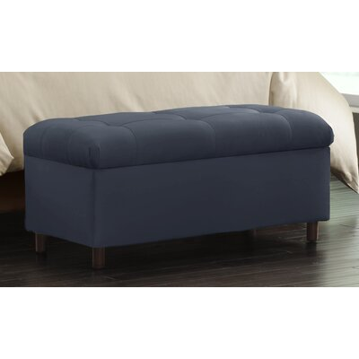 Nelson Tufted Upholstered  Microdenier Storage Ottoman Finish: Lazuli