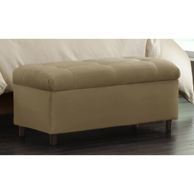 Upholstered Storage Bench Color: Khaki