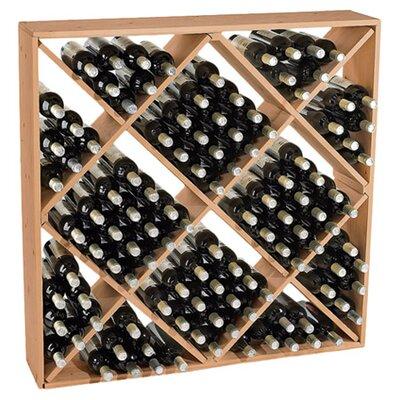 Lymsey 120 Bottle Floor Wine Rack Finish: Natural
