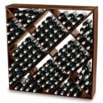 Lymsey 120 Bottle Floor Wine Rack Finish: Walnut