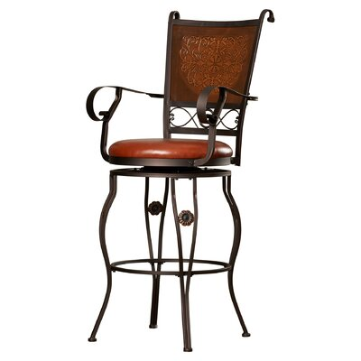 Woodland Swivel Bar Stool Seat Height: 30