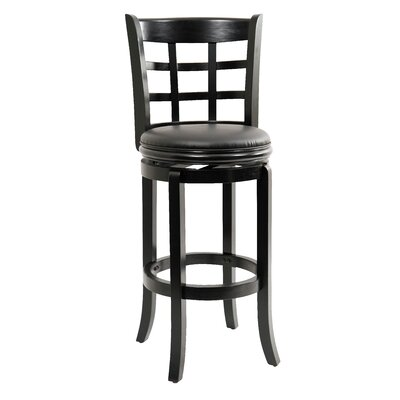 Farmington 29 Swivel Bar Stool Finish: Black