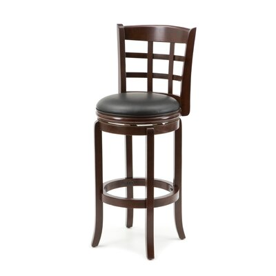 Farmington 29 Swivel Bar Stool Finish: Light Cherry