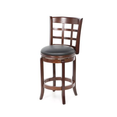 Farmington 24 Swivel Bar Stool Finish: Cherry