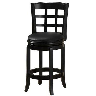 Farmington 24 inch Swivel Bar Stool Finish: Black
