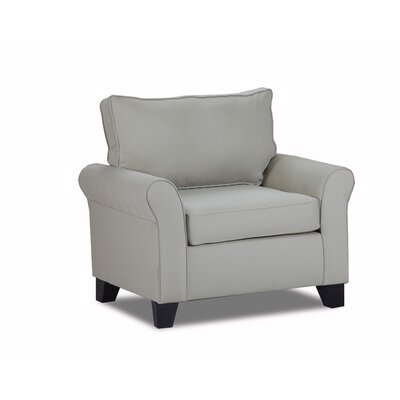Adelina Arm Chair Color: Light Slate