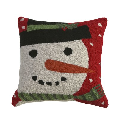 Bouldre Night Snowman Hook Wool Throw Pillow