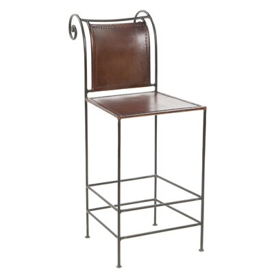 Arrowsmith 26 Bar Stool Upholstery: Brown