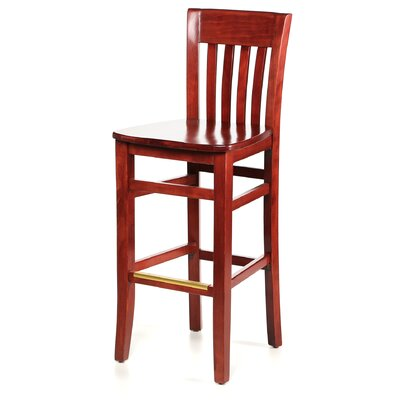 Abbottstown 30 Bar Stool Frame Finish: Mahogany