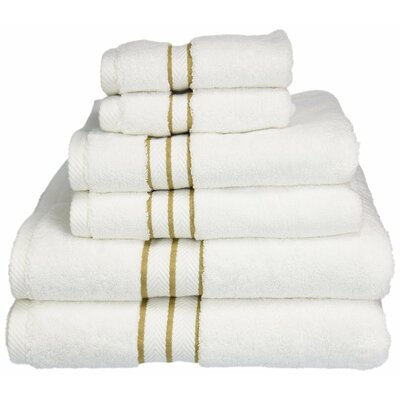Patric Solid 6 Piece Towel Set Color: Toast