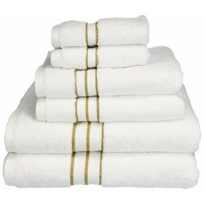 Superior 6 Piece Towel Set Color: Toast