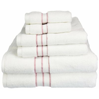 Patric Solid 6 Piece Towel Set Color: Tea Rose