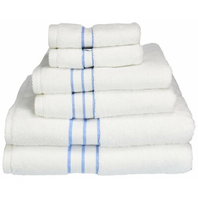 Patric Solid 6 Piece Towel Set Color: Light Blue
