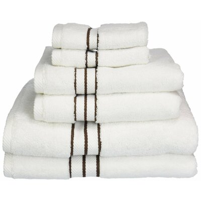 Patric Solid 6 Piece Towel Set Color: Chocolate