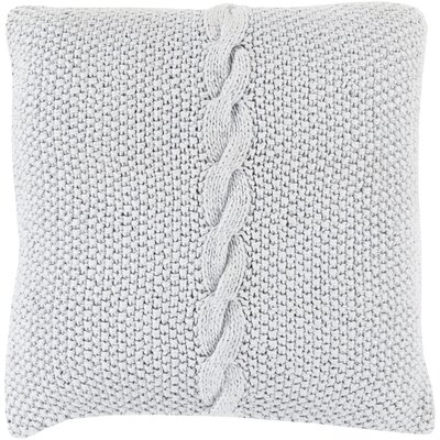 Gascoyne Twist Cotton Throw Pillow Color: Gray, Size: 22 H x 22 W x 4 D, Filler: Down