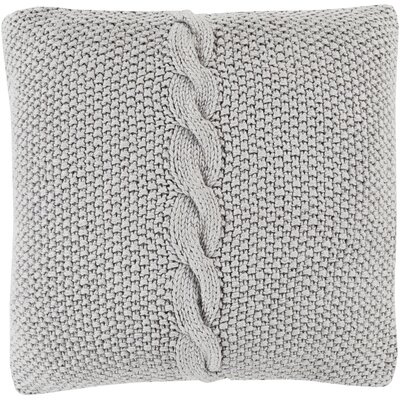 Gascoyne Twist Cotton Throw Pillow Size: 20 H x 20 W x 4 D, Color: Dark Gray, Filler: Down