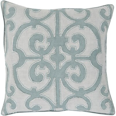Rushford Linen Throw Pillow Size: 18 H x 18 W x 4 D, Color: Slate/Light Gray, Filler: Down