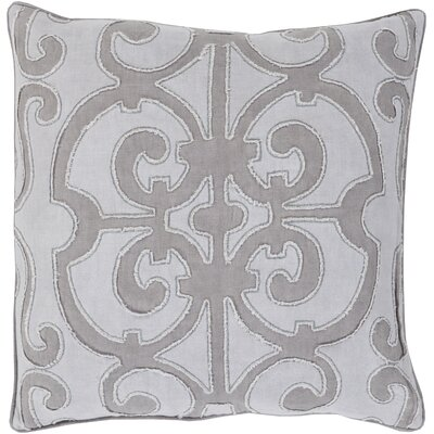 Boston Linen Throw Pillow Size: 18 H x 18 W x 4 D, Color: Gray/Light Gray, Filler: Polyester