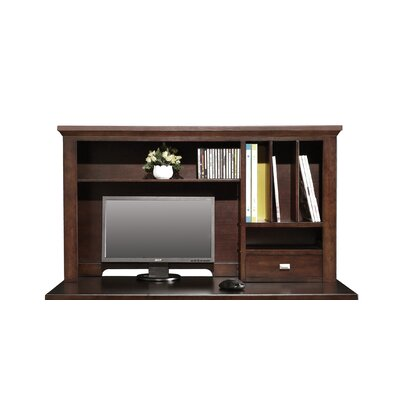 Eaton 24 H x 42 W Desk Hutch Finish: Chocolate