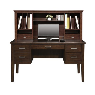 Eaton 24 H x 54 W Desk Hutch Finish: Chocolate