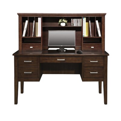Eaton 24 H x 54 W Desk Hutch Color: Chocolate