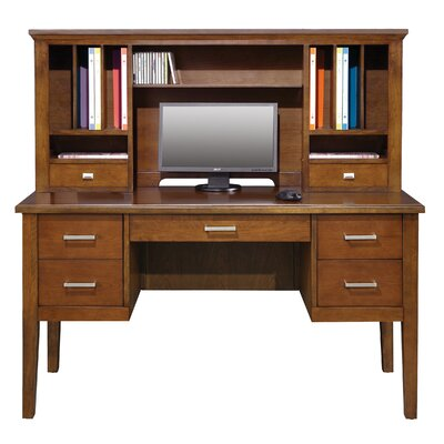 Eaton 24 H x 54 W Desk Hutch Color: Brown Cherry