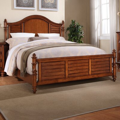Stroupe Panel Bed Size: Queen, Color: Cherry
