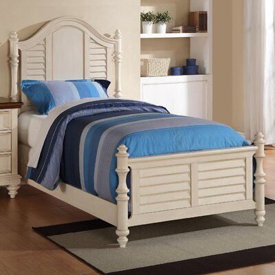 Stroupe Panel Bed Finish: White, Size: Twin