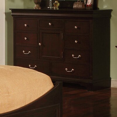 Riegel 8 Drawer Standard Dresser Color: Espresso