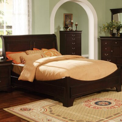 Riegel Panel Bed Size: Queen, Color: Espresso
