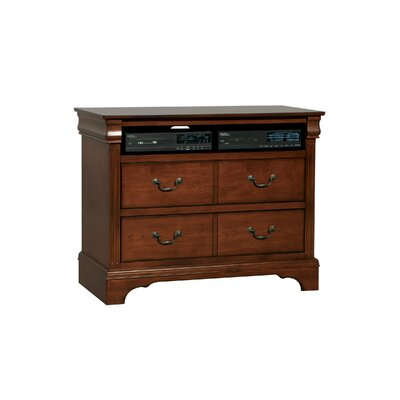 Riegel 4 Drawer Media Dresser Color: Cherry