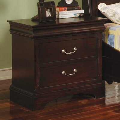 Riegel 2 Drawer Nightstand Finish: Espresso