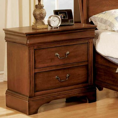 Riegel 2 Drawer Nightstand Finish: Cherry