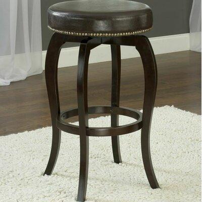Windsor Lane 25.4 Swivel Bar Stool Upholstery: Brown