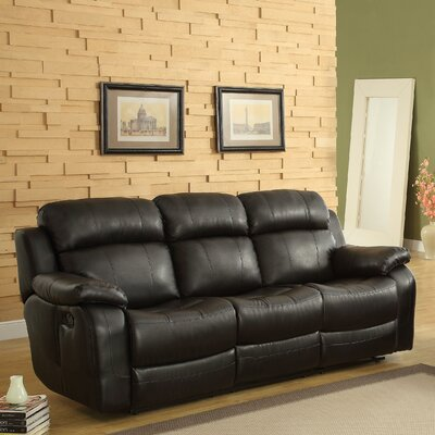 Hall Double Reclining Sofa Upholstery: Black