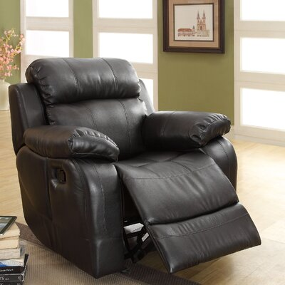 Hall Power Glider Recliner Upholstery: Black