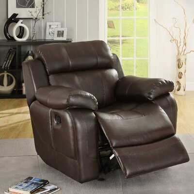 Hall Glider Recliner Upholstery: Brown