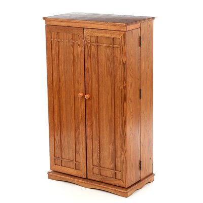 Multimedia Storage Cabinet Color: Dark Oak