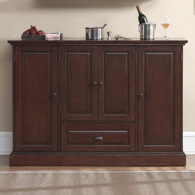 Hopewell Bar Cabinet with Wine Storage Color: Brown
