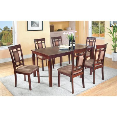 Patrick 7 Piece Dining Set Upholstery Type/Color: Micro Fabric/Beige