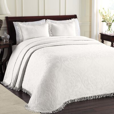Doddle Bedspread Color: White, Size: Queen