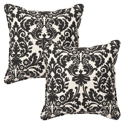 Compton Outdoor Throw Pillow Color: Essence Onyx, Size: 18.5 x 18.5 x 5