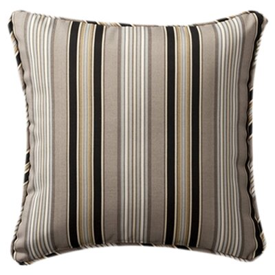 Purlles Outdoor Throw Pillow Color: Black / Beige Striped