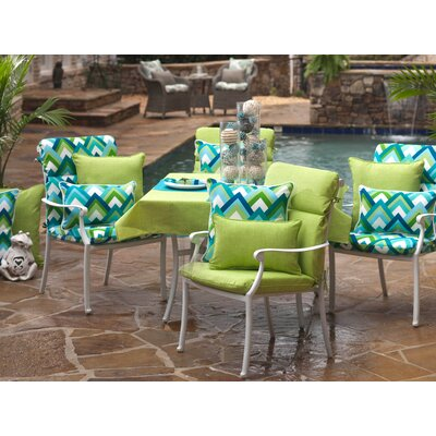 Purlles Outdoor Throw Pillow Color: Green Textured Solid