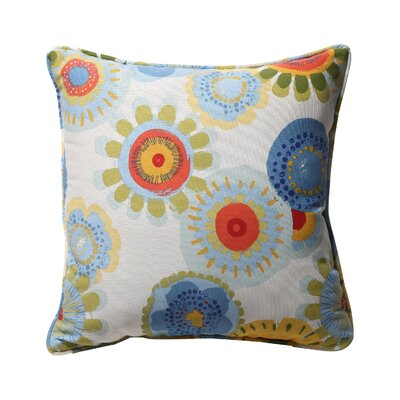 Alsip Outdoor Throw Pillow Color: Multicolored Floral