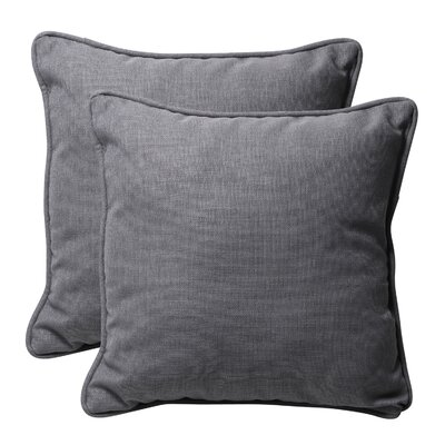 Purlles Outdoor Throw Pillow Color: Gray Textured Solid
