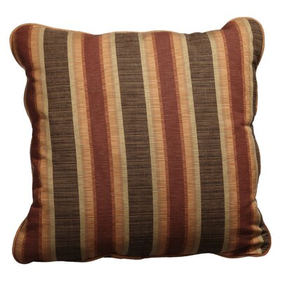 Basswood Outdoor Sunbrella Throw Pillow Size: 22 x 22, Fabric: Autumn Stripe