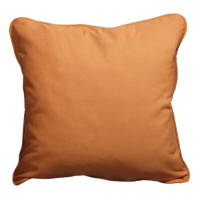 Basilia Outdoor Throw Pillow Size: 20 x 20, Fabric: Canvas Tangerine