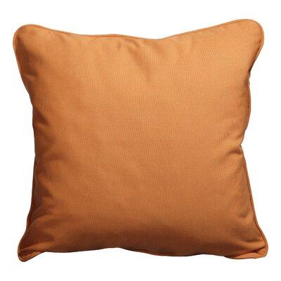 Basilia Outdoor Throw Pillow Size: 18 x 18, Fabric: Canvas Tangerine